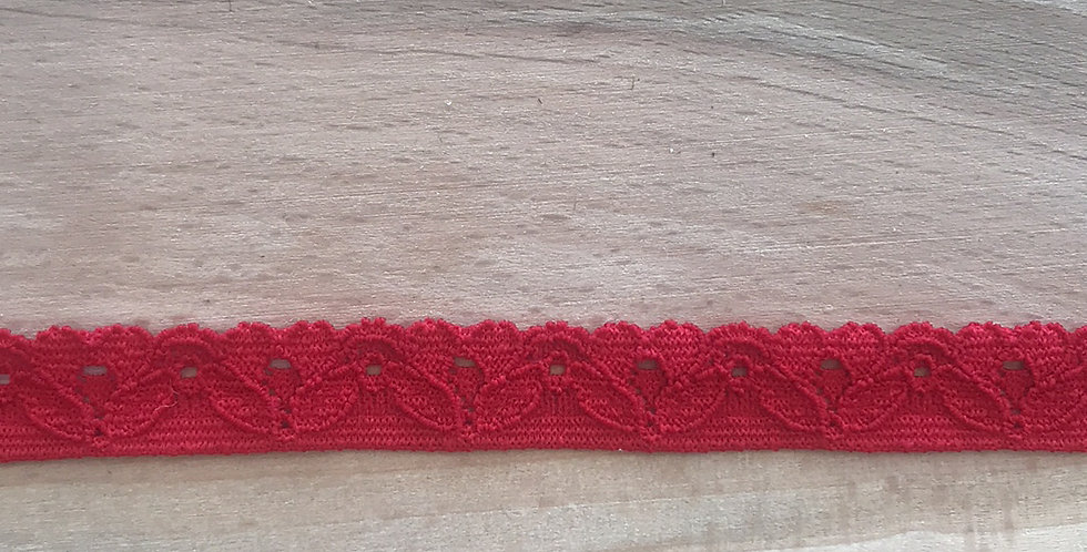 Red Lace Edging Elastic...