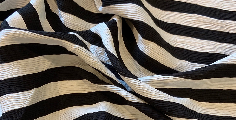 Striped Textured Rib Stretch Woven...