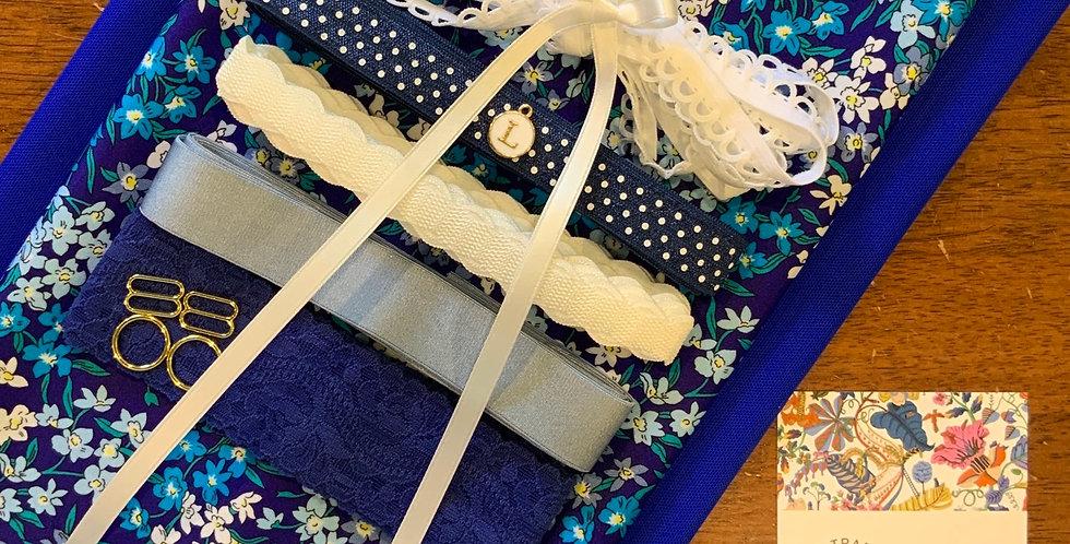 SEA BLOSSOMS BLUE Liberty Lingerie Kit...