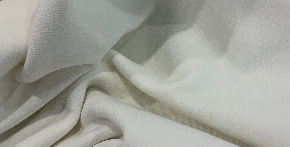 Ivory Unbrushed Two Way Stretch Cotton Terry Knit...