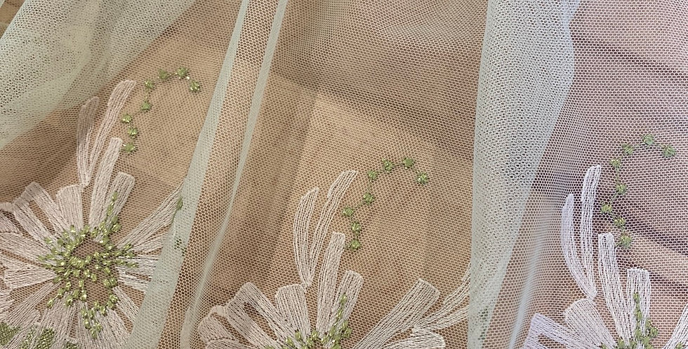lotus mint embroidered trim