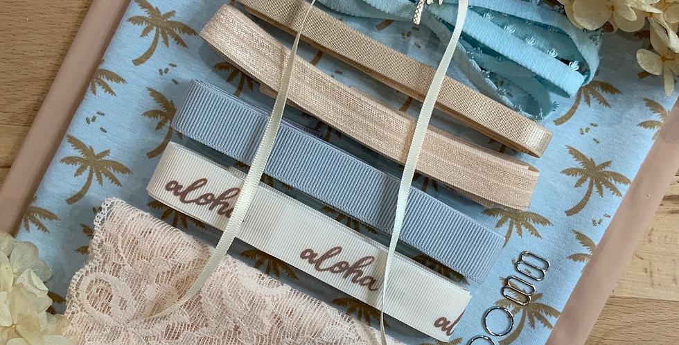 Desert Palms French Cotton Spandex Lingerie Kit...