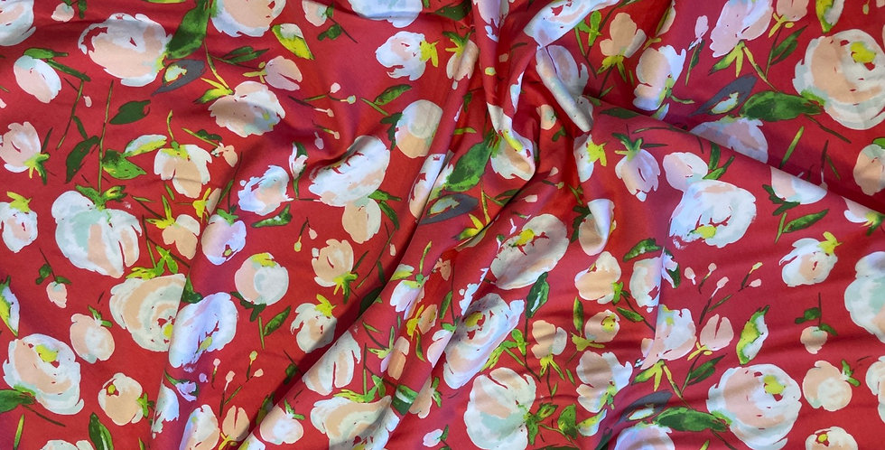 art gallery fabrics ever lasting blooms berry jersey