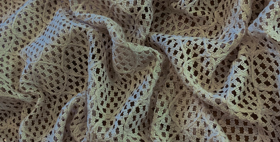 Light Coffee Cotton Blend Lace Remnant....