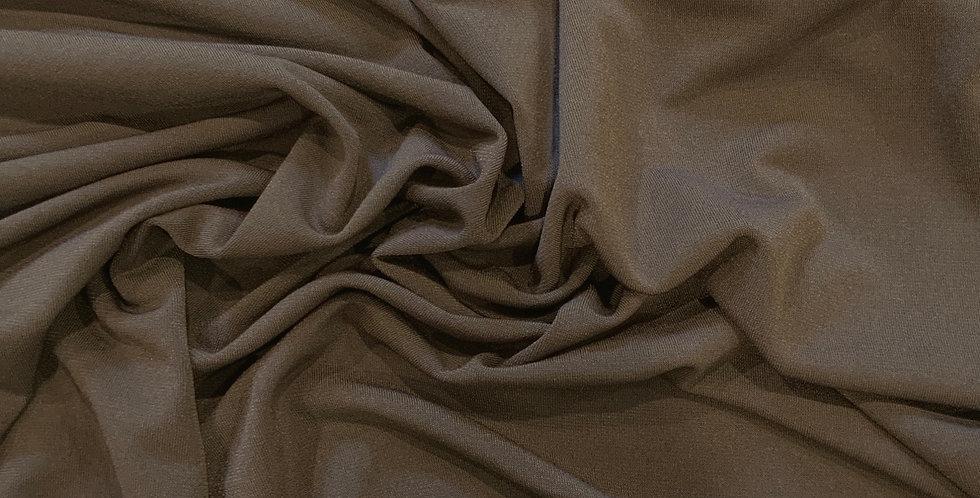 Dark Khaki Polyester Jersey Remnant