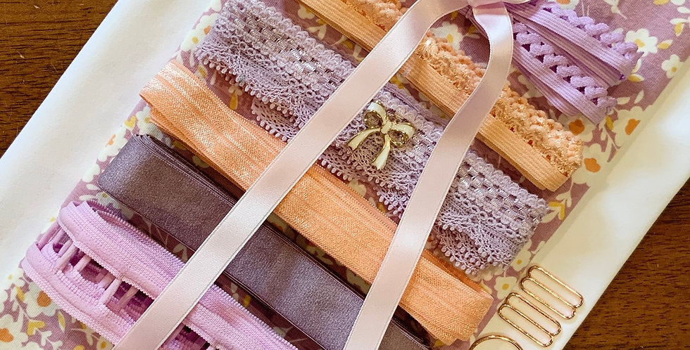 Art Gallery Fabrics Calico Days Lavender Oeko-Tex Lingerie Kit...