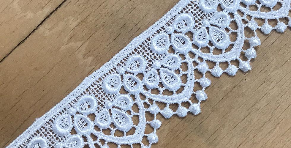 Tear drop lace
