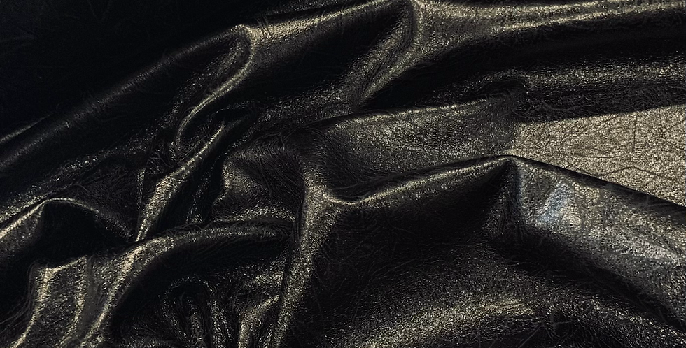 New York Black Aged Leather Look Bonded Knit....
