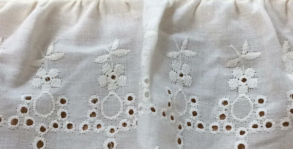 Sienna cotton broderie trim
