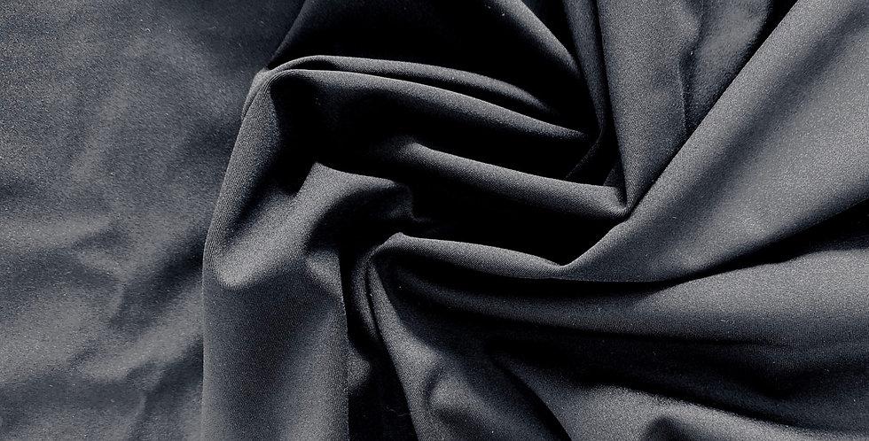 Matte black lightweight Italian spandex remnant
