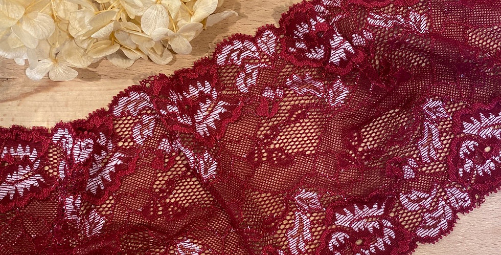 claret rose stretch lace