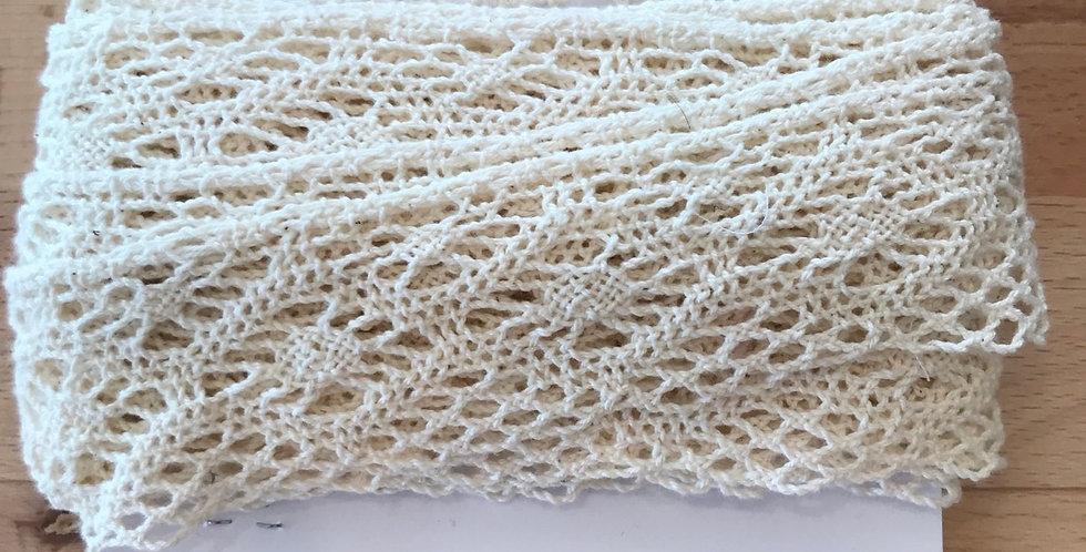 Cream crochet lace remnant