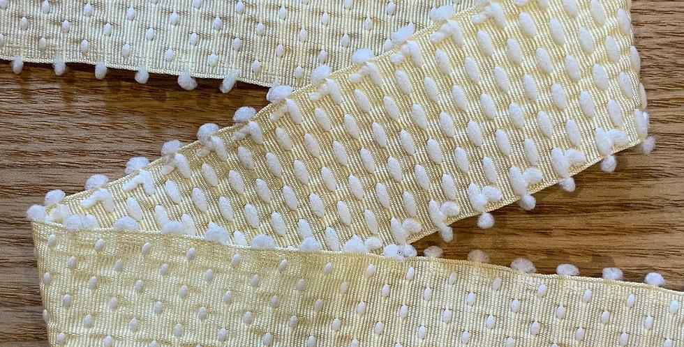 Miranda Lemon Embroidered Grosgrain Ribbon...