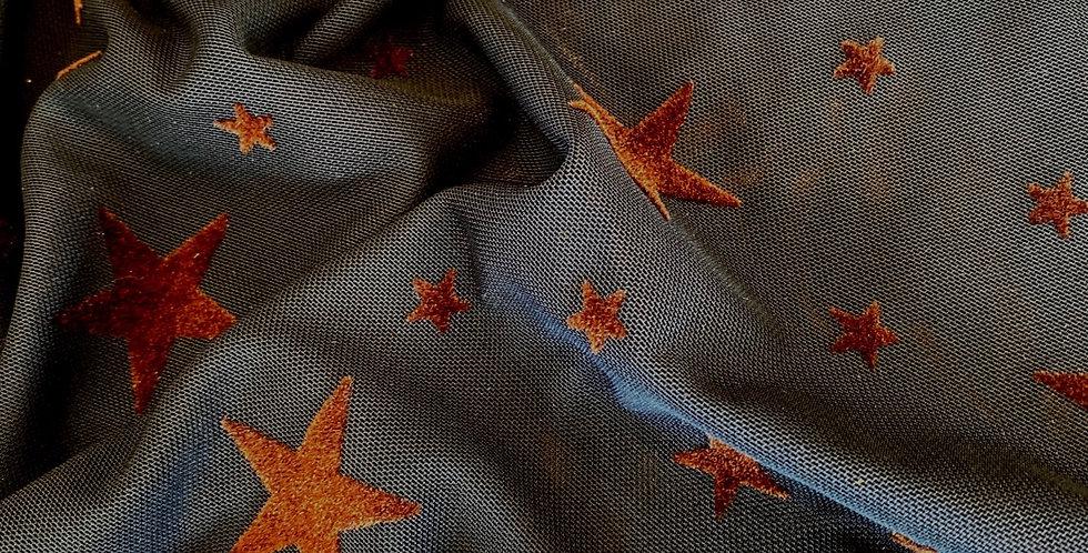 star struck velvet flocked stretch mesh