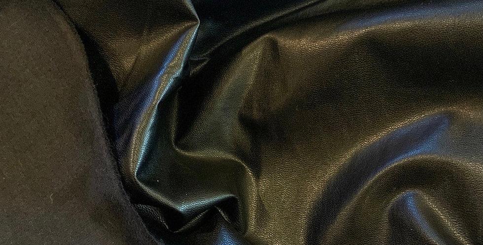 Black lightweight vegan leather remnant