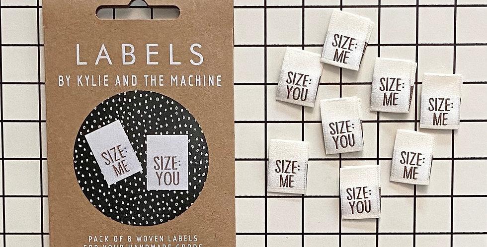 KATM size you/size me cloth labels