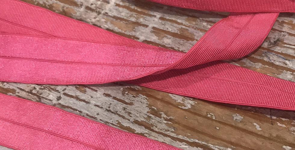 watermellon shiny foldover elastic 5mtr Roll...