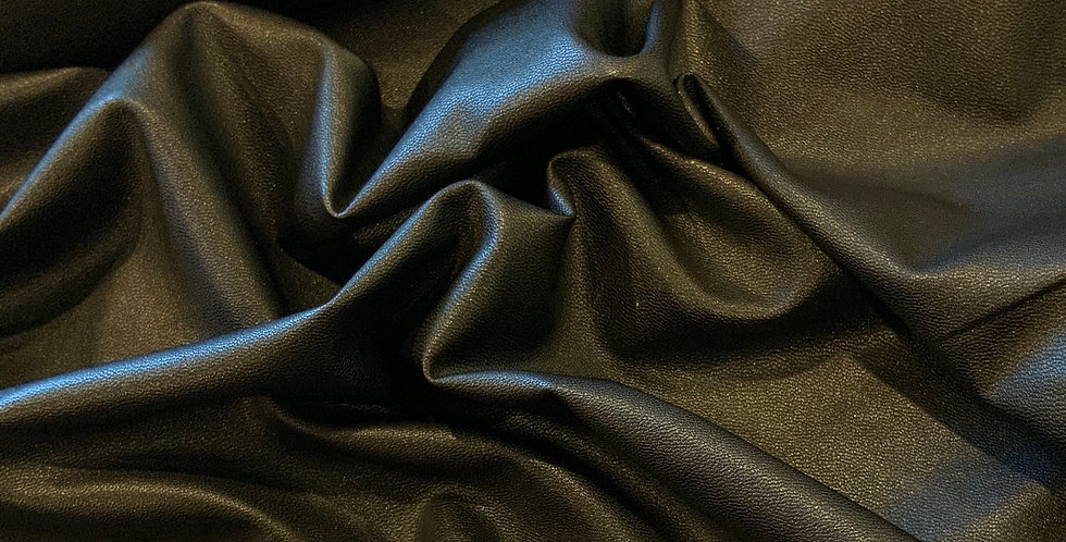 Black Cotton Back Vegan Leather...