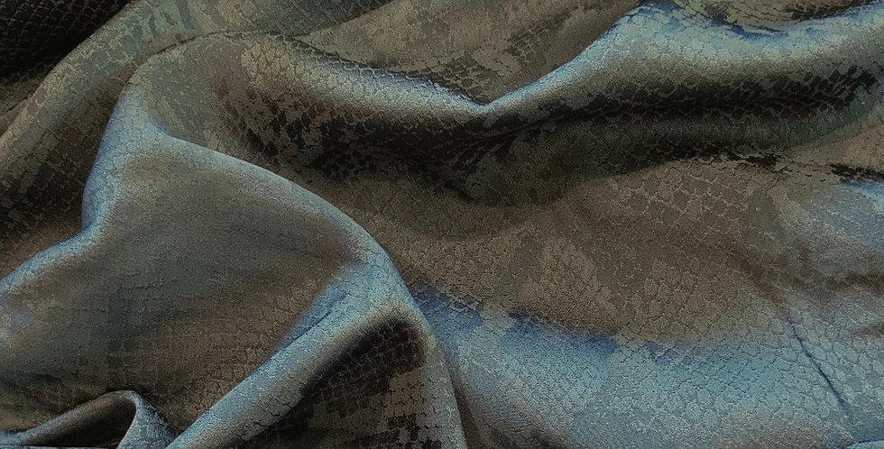 Air Force Blue Polyester Snakeskin Jacquard....
