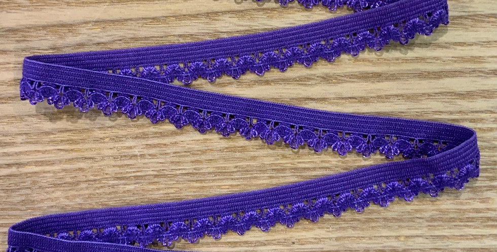 Purple Crown Edge Picot Elastic...