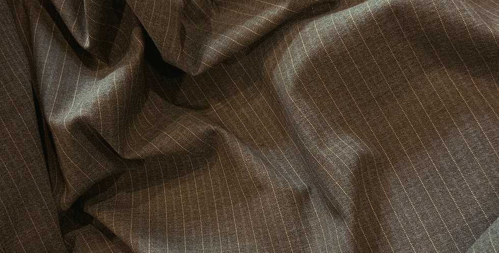 Stretch Pinstripe Polyester Blend Suiting Remnant