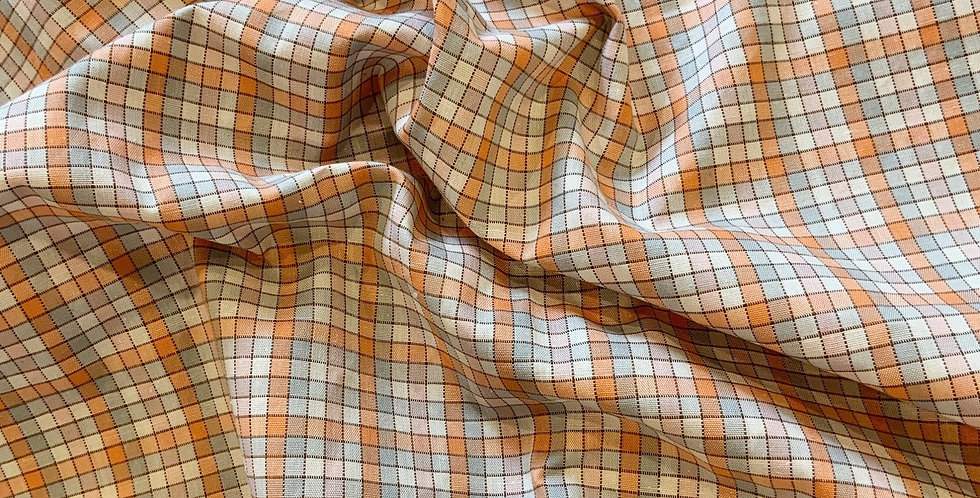 Vintage 1970's cotton Check Remnant