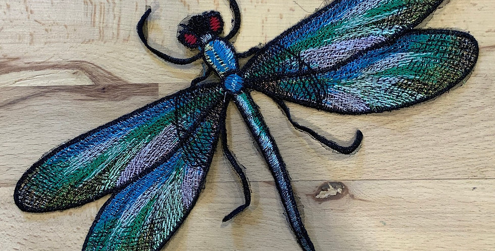 Embroidered Dragonfly Sew On Motif…