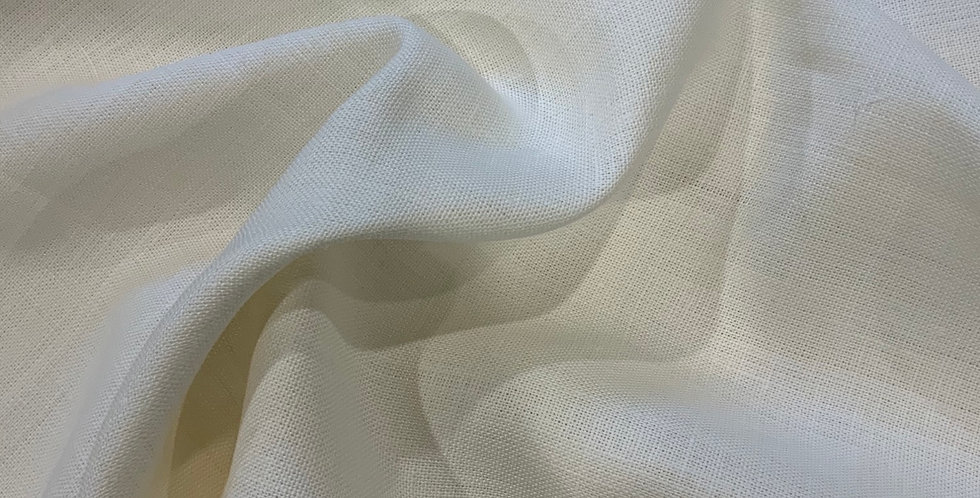 Ivory Linen Look Acetate Remnant
