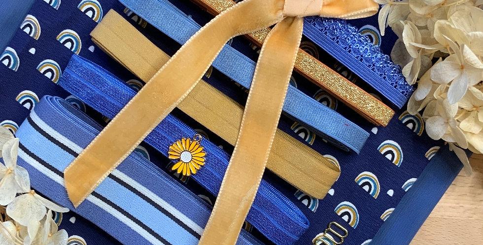 Sunflowers & Rainbows French Cotton Spandex Lingerie Kit...