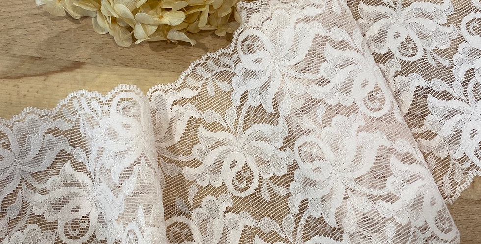 pale blush bloom stretch lace