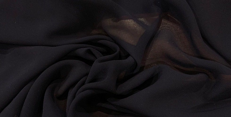 Navy Polyester Georgette Remnant
