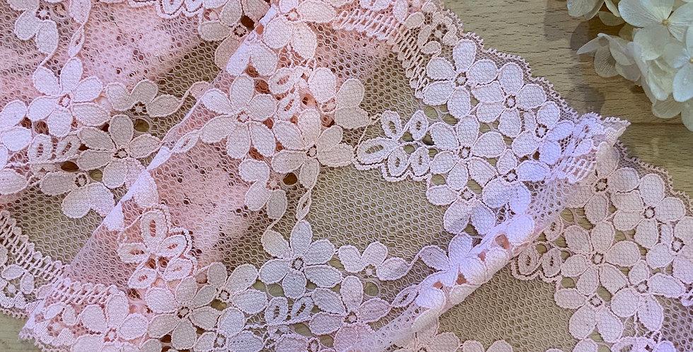 Louisa Peach/Pink Stretch Lace
