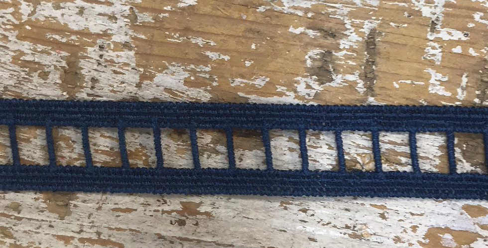 Navy ladder lace
