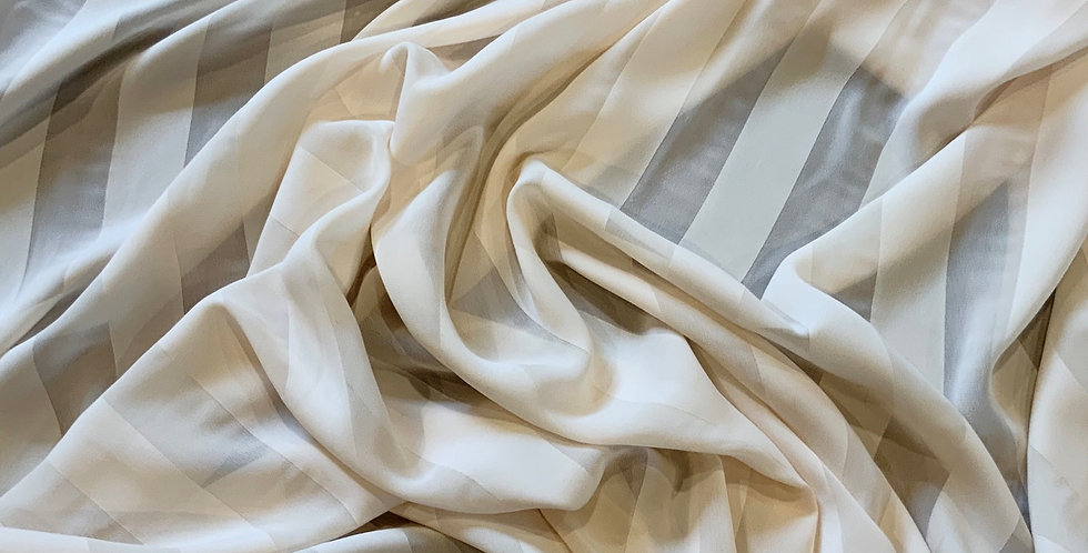 3mtr Bundle Venice Cream Satin Stripe Georgette...
