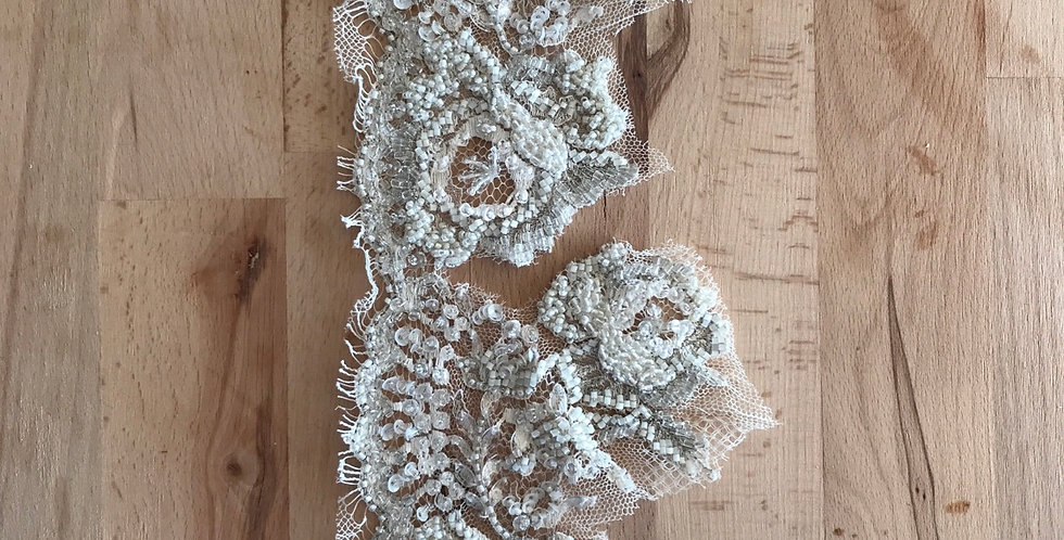 Beaded lace piece 1