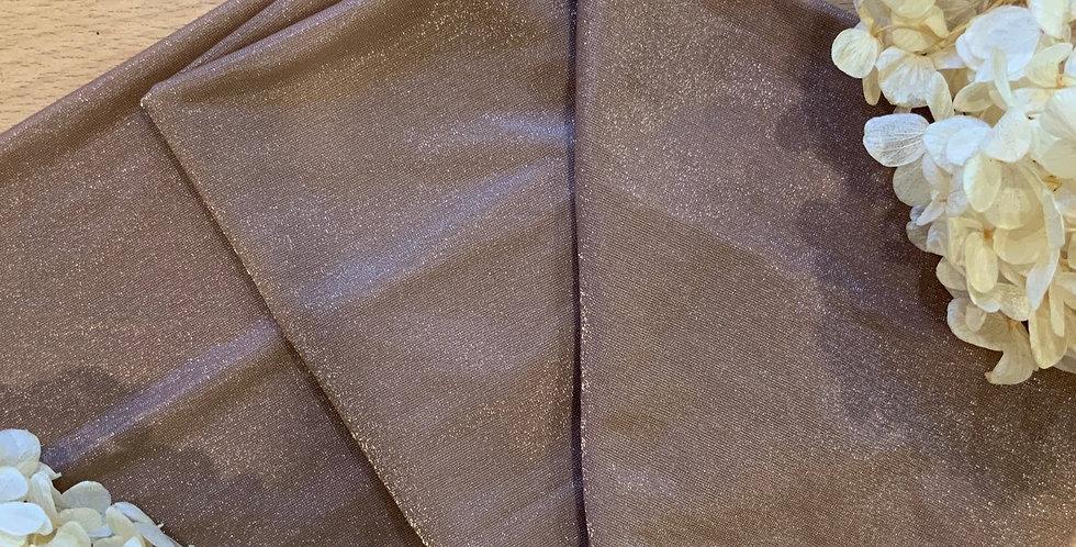 Dark Tan Crystal Lycra 50cm Piece...