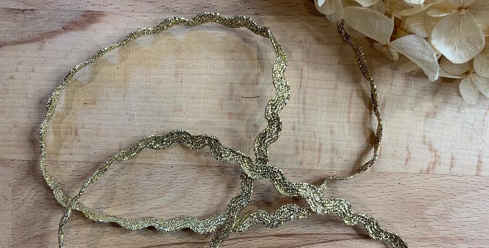 Gold Lurex Ric Rac Braid