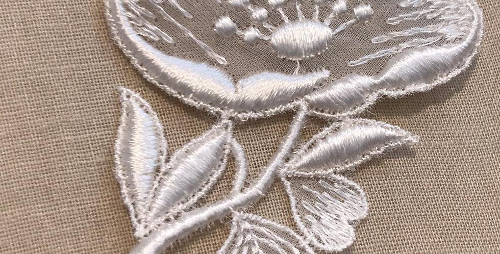 Vintage blossom motif rayon