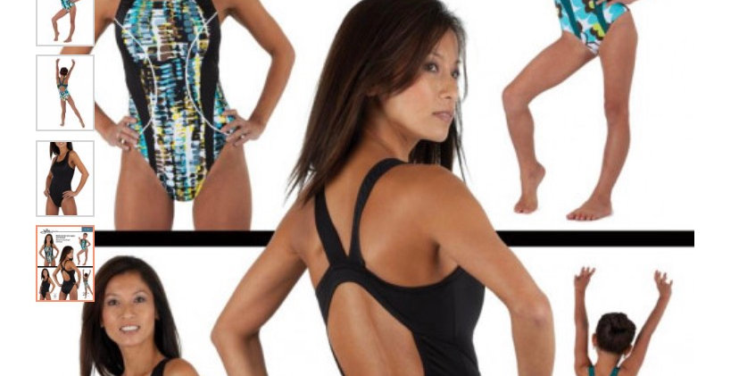 Jalie racer back swimsuit printed pattern