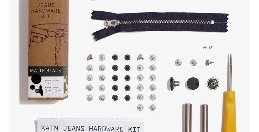 KATM jens hardware kit MATTE BLACK 19cm zip