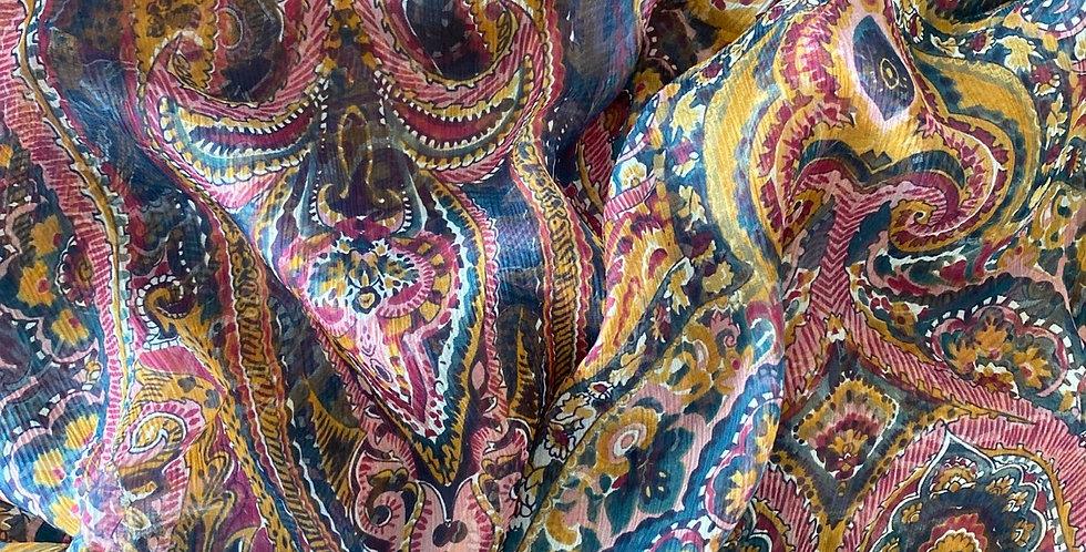 lady mcelroy persian paisley silk crinkle chiffon