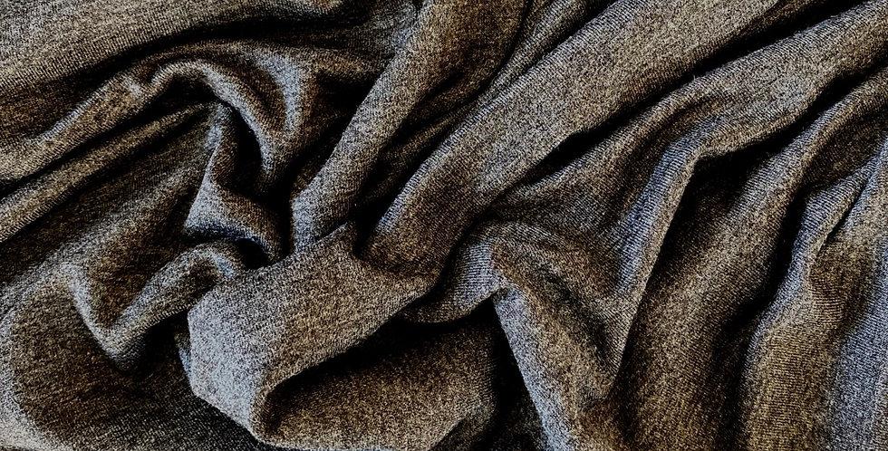 Charcoal marle viscose jersey