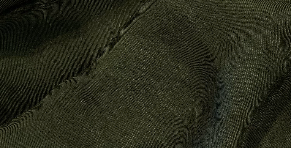 Forest Green Viscose Linen Twill Suiting