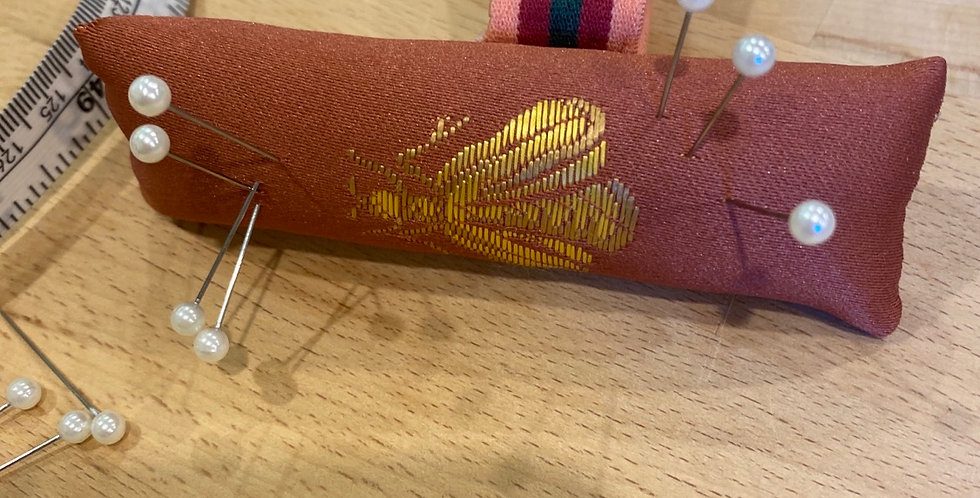 Queen bee hand crafted wrist pin cushion