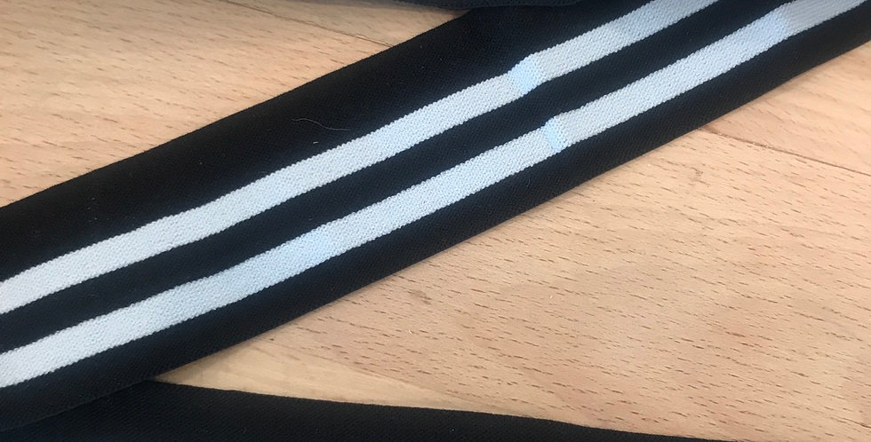 Monochrome stripe elastic