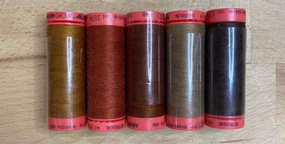Metrosene Mixed Browns Thread Pack #5