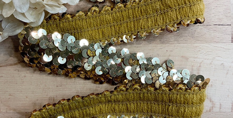 Gold Stretch Sequin Strapping