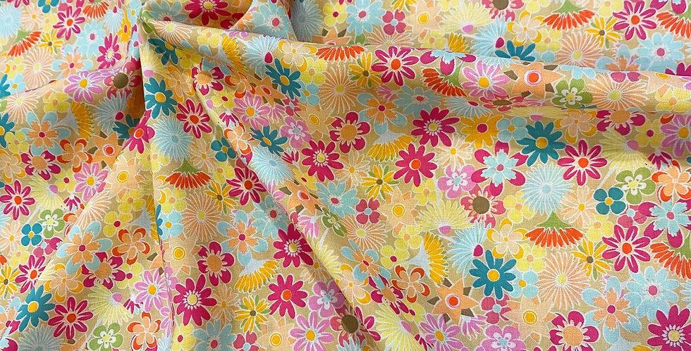 Art Gallery Fabrics Flowers All Around Oeko-Tex Rayon 60cm Piece...
