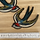 Thumbnail: Old school bird motif pair