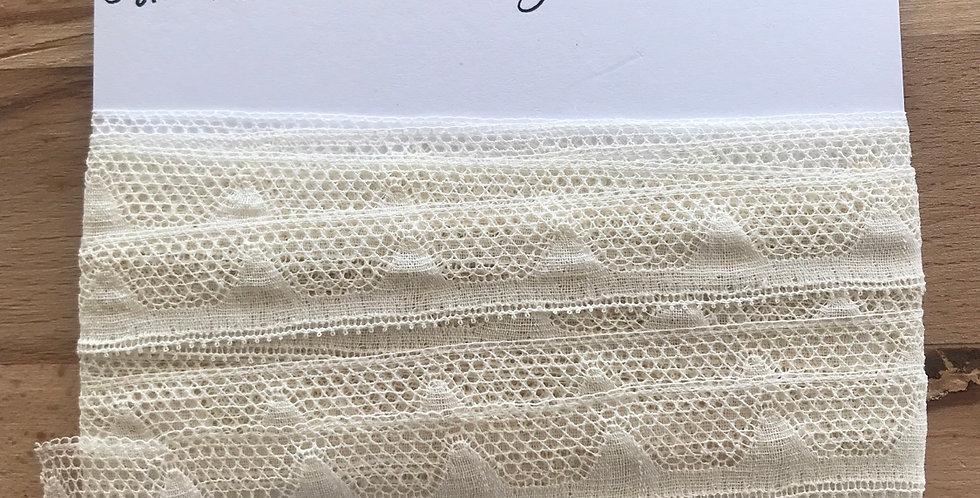 French vintage cotton lace remnant